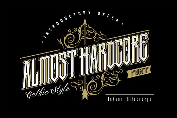 Almost Hardcore Font
