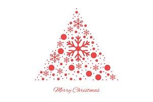 Merry christmas triangular ornament