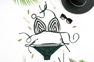 Swimsuit and accessories