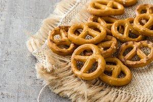 Salted pretzels