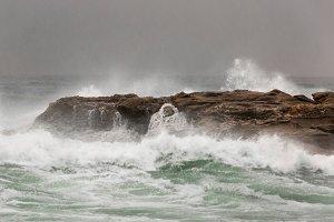 Landscape of storm in ocean