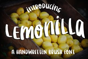 Lemonilla (short)-Brush Font