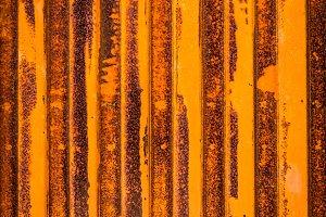 Rust metal door