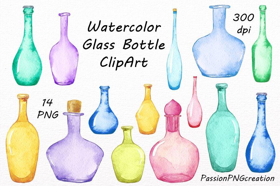 Colorful Prescription bottles clipart free image