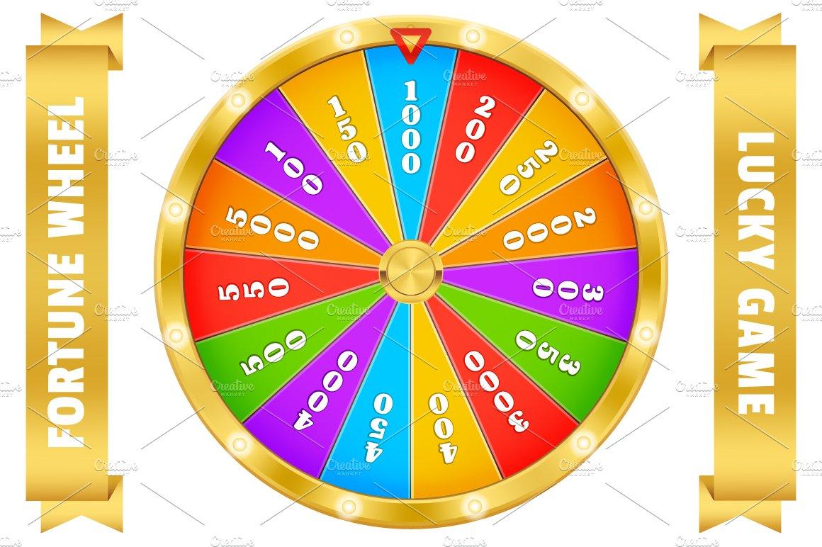 Fortune wheel. Realistic gold vector | Custom-Designed ...