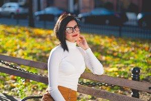 Fashion girl around New York