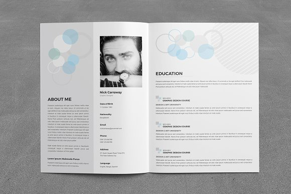 Modern Graphicriver Resume Booklet 8 Pages Gallery - Example Resume ...