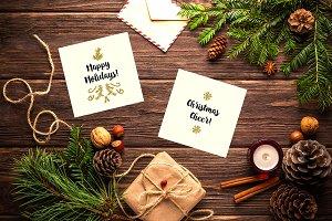 24 Christmas glitter elements