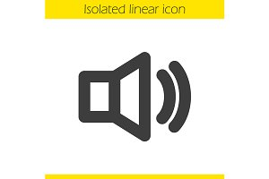 Volume on linear icon. Vector