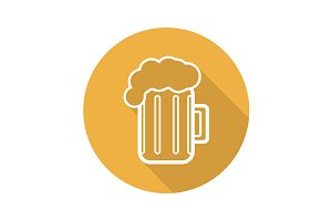 Beer mug icon. Vector