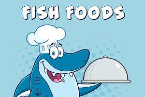 Chef Shark Holding A Platter