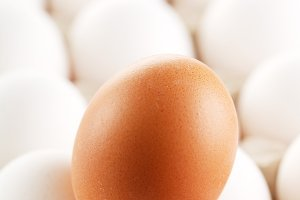 Brown egg whites of eggs.