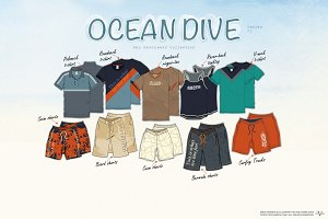 Men Ocean Dive Fashion Set