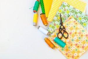 Sewing kit and cloth materials