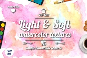 Light and soft watercolor textures