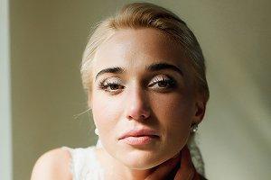 Blond bride looks gorgeous
