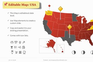 Editable USA Map with Elements.PP
