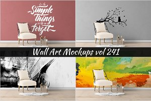 Wall Mockup - Sticker Mockup Vol 241