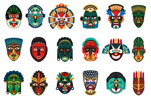 Tribal ethnic african mask