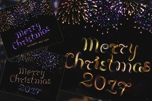 Merry Chirstmas 2017 / 15 BRUSHES