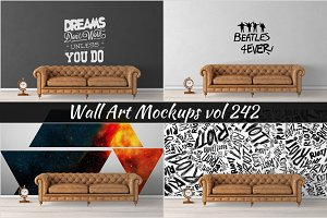 Wall Mockup - Sticker Mockup Vol 242