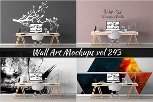 Wall Mockup - Sticker Mockup Vol 243