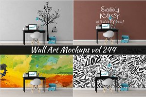 Wall Mockup - Sticker Mockup Vol 244