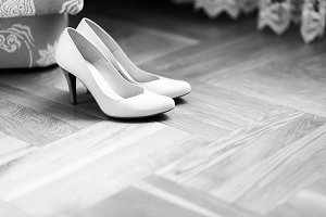 Delicate white shoes