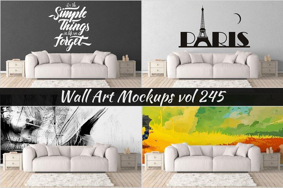 Wall Mockup - Sticker Mockup Vol 245