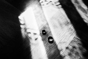 Wedding rings lying on the floor