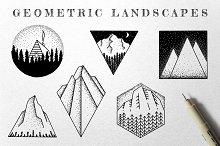 Geometric Landscape Illustrations