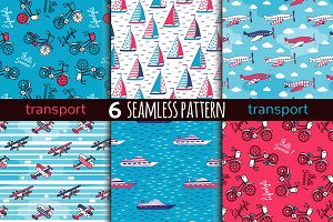 6 transport seamless pattern