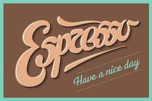 Hand drawn lettering Espresso