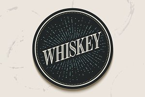 Beverage coaster for Whiskey