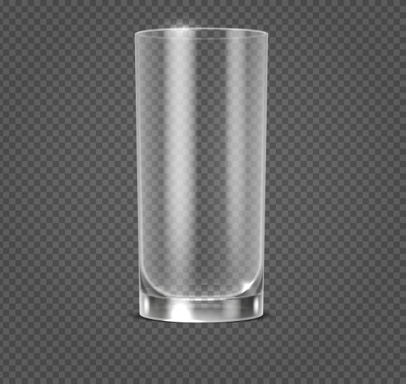 Empty Realistic Drinking Glass