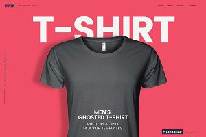 Men's Ghosted T-Shirt Mockups