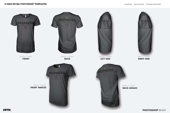 Men\'s Ghosted T-Shirt Mockups ~ Product Mockups ~ Creative Market
