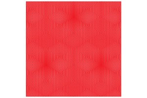 Red Concentric Hexagons Pattern