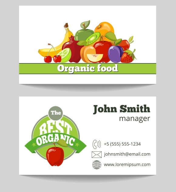 Food Business Cards Templates Free