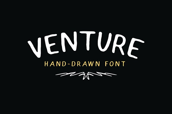 Venture - Hand-Drawn Font in Sans-Serif Fonts - product preview 1