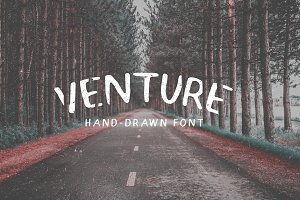 Venture - Hand-Drawn Font