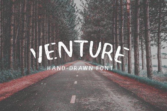 Venture - Hand-Drawn Font