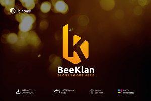 BeeKlan - BK Letter Logo