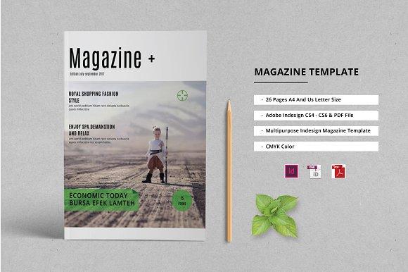 Indesign Magazine Template ~ Magazine Templates ~ Creative Market