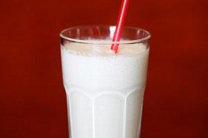 Glass of milk shake
