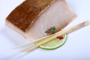 Delicious fresh white fish