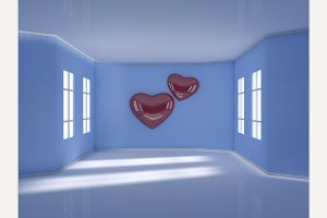 Room with hearts
