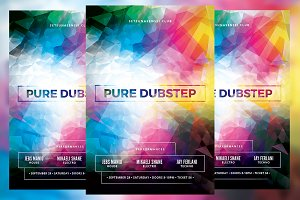 Pure Dubstep Club Flyer