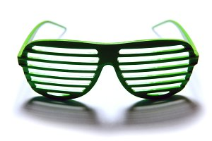 Club shutter green glasses