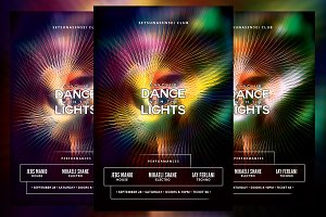 Dance with the Lights Party Flyer